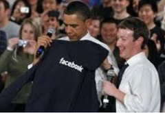 obama loves facebook